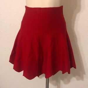 Red Mini Skater skirt